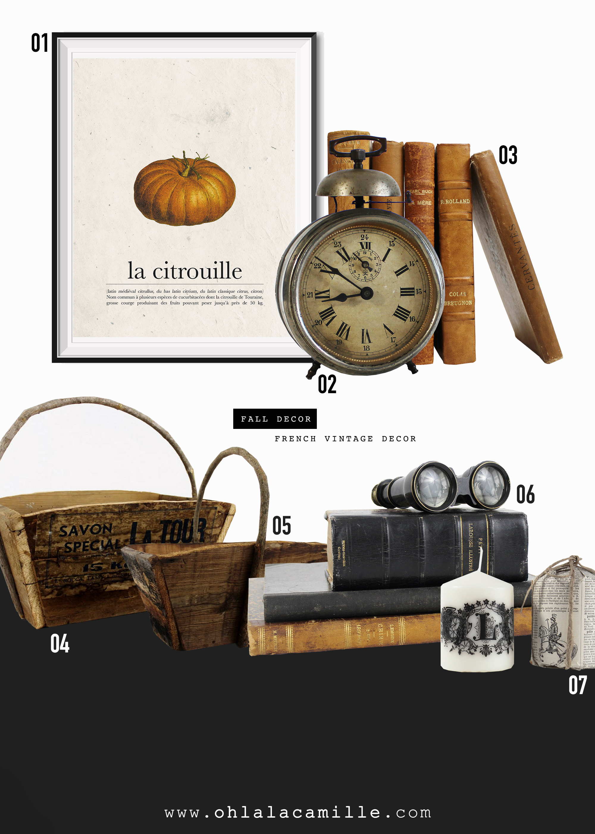French vintage fall decor product round up for september for Vintage home interior products