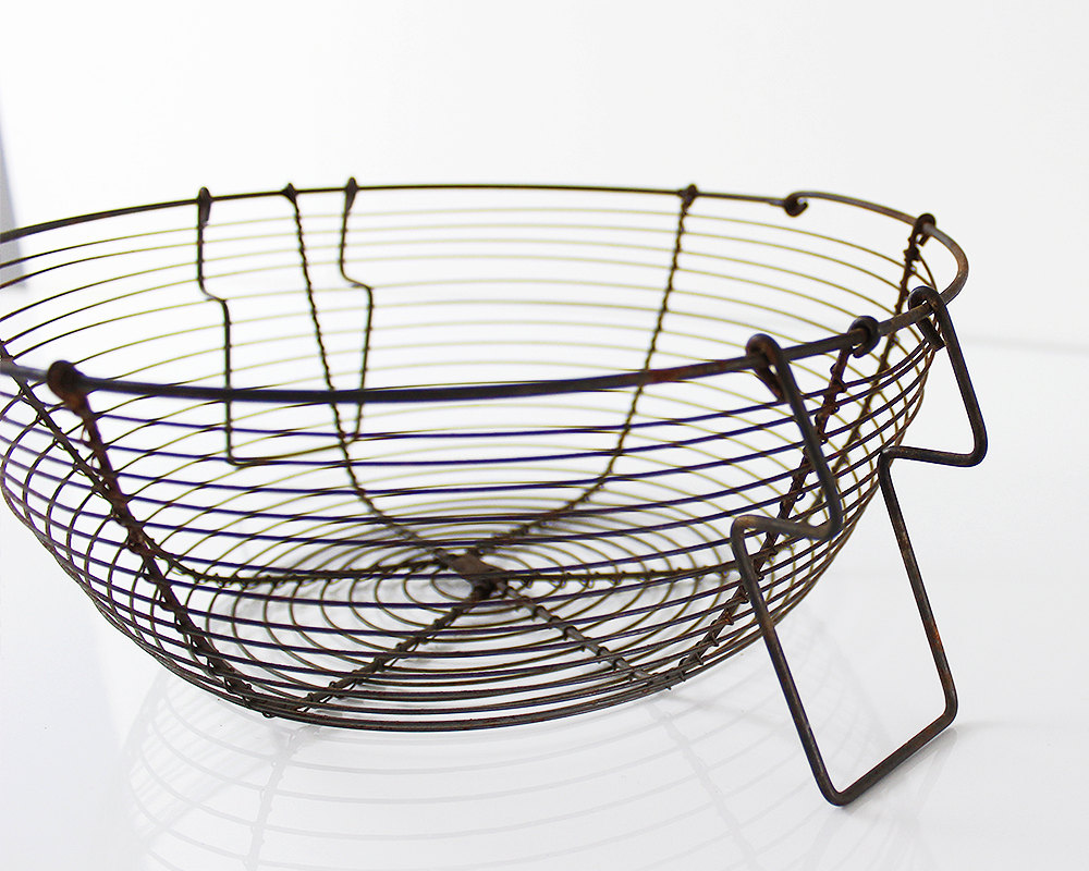Vintage wire egg baskets for your home decor | Ohlalacamille